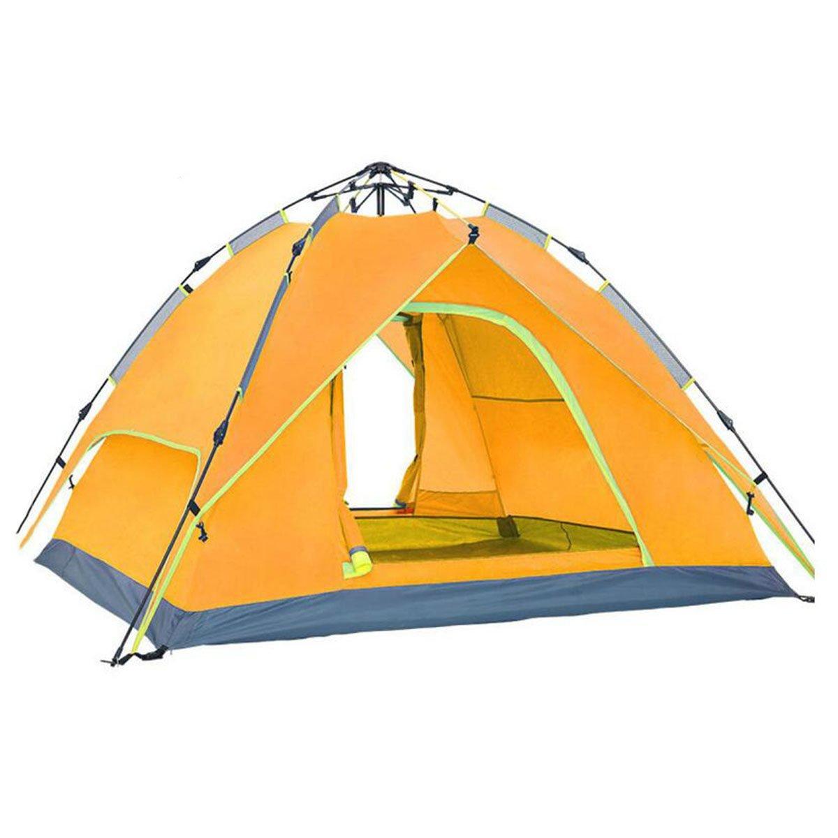 TZQ Camping Automatische Fischen Multiplayer Camping Zelte,Gelb