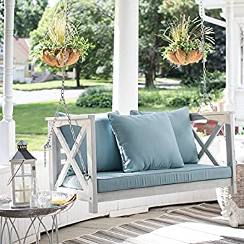 shabby chic patio furniture. Shabby Chic Country Farmhouse 4 Foot Outdoor Wood White Wash Finish Porch Swing Includes Cushions And Patio Furniture