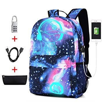 Amazon.com: CJB18 Anime Cartoon Mochila luminosa – con ...