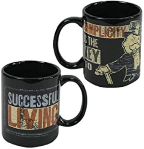 Hasbro Vintage Mugs & Soup, 12 oz, Monopoly Rich Uncle Pennybags Simplicity Mug