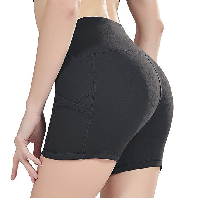 Amazon.com: Uhnice - Pantalones cortos de yoga con bolsillos ...