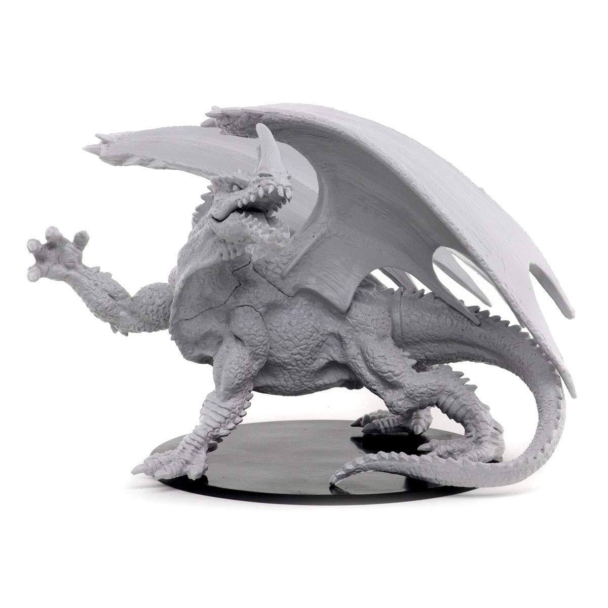 WizKids Pathfinder Deep Cuts Unpainted Miniatures Gargantuan Green Dragon Toy WZK73531