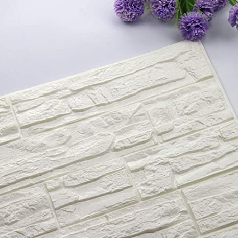 Etiqueta de la pared de BaZhaHei, DIY 3D ladrillo PE espuma Wallpaper Panels Room Decal Stone decoración en relieve del Adhesivo de pared de ladrillo ...