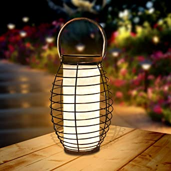 Farol Solar para Exteriores Linterna LED Solar Luces de mesa solares para jardín, al aire libre, patio, césped, pasillo,Decoracion Fiesta 1 Pack: Amazon.es: Iluminación