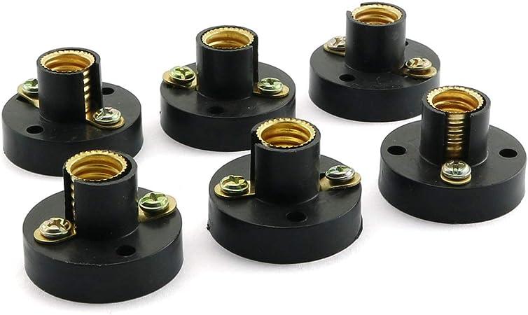 E10 Copper Light Bulb Screw Base Socket Lamp Holder Electronic Set  Light Socket
