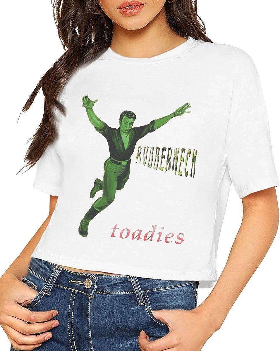 Kemeicle Women Toadies Rubberneck Short Sleeves Crop Tops T Shirt