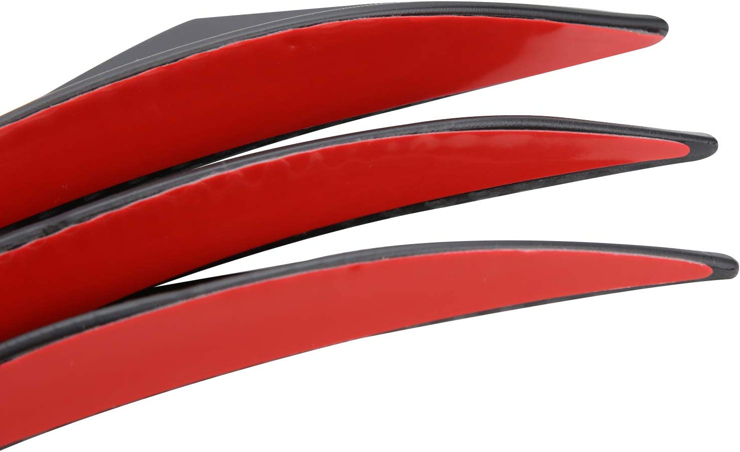 MorNon 6X Universal Spoiler Sto/ßstangenleiste GM Carbon Frontspoiler f/ür Gummilippenseite der Schwelle