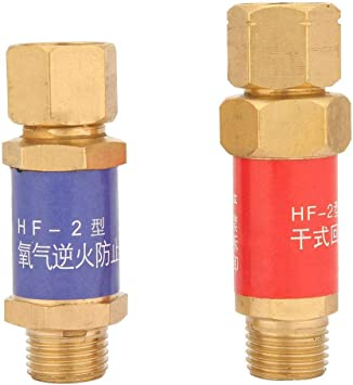 1 Pair Oxygen Acetylene Check Valve Flashback Arrestor Flame Buster M16*1.5 HF-2 Oxygen Acetylene Flashback Arrestors Set