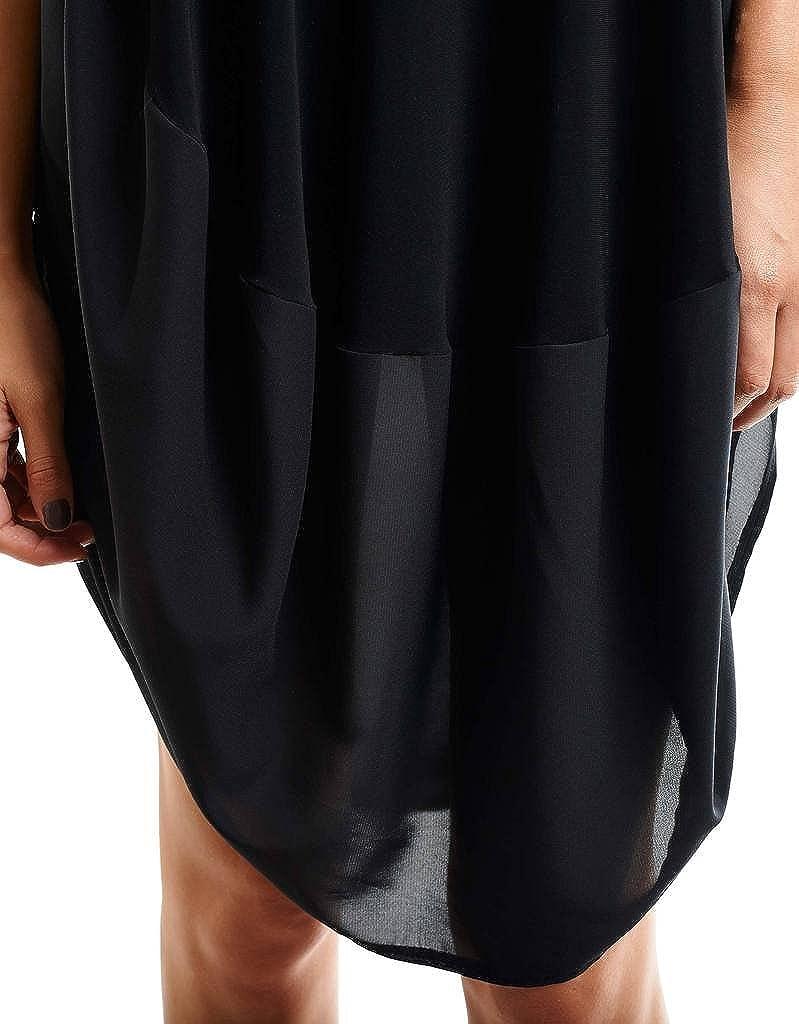 Joseph Ribkoff Black U Neckline Loose Flowing Tunic Dress Style 153265 - Size 10 at Amazon Womens Clothing store: