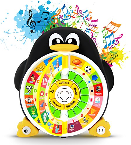 Boxiki kids Penguin Power ABC Learning Educational Toy Learning Game Center Boosts Core Pre-Kindergarten Subject Comprehension  ABCs, Words, Spelling, Shapes, Where is? & Songs