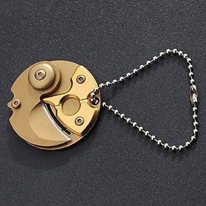 SHUCV Navaja Llavero Conectado, Retire y Expresar el edc Navaja Navaja,F8 Monedas (Gold)