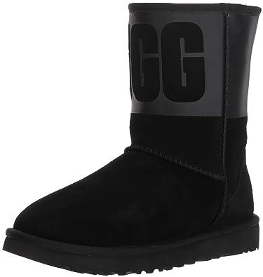 b30575c4dcd UGG Women s W Classic Short Rubber Fashion Boot Black 5 ...