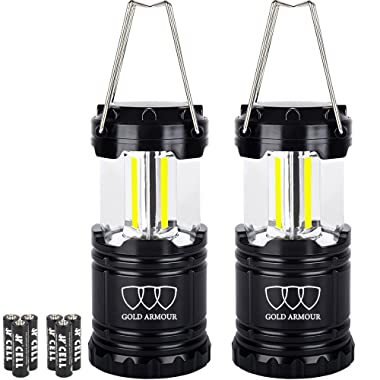 Gold Armour LED Camping Lantern, Portable EMITS 350 LUMENS Great Survival Kits for Hurricane, Emergency, Storm, Outages, Outdoor - Camping Gear Accessories Equipment