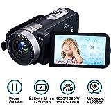 Videocamera Fotocamera Full HD 1080p 24.0MP Camera digitale 3.0 pollici 270 gradi schermo girevole Video Recorder Funzione di pausa con telecomando