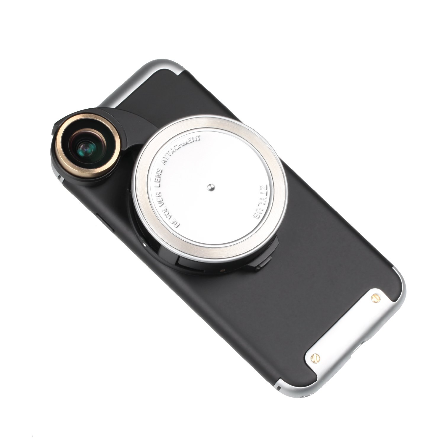 Ztylus 4-in-1 Revolver Lens Smartphone Camera Kit for Apple iPhone 7: Super Wide Angle, Macro, Fisheye, CPL, Protective Case, Phone Camera, Photo Video (Silver) by Ztylus