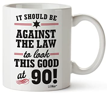 90th Birthday Gifts For Women Ninety Years Old Men Gift Mugs Happy Funny 90 Mens Womens
