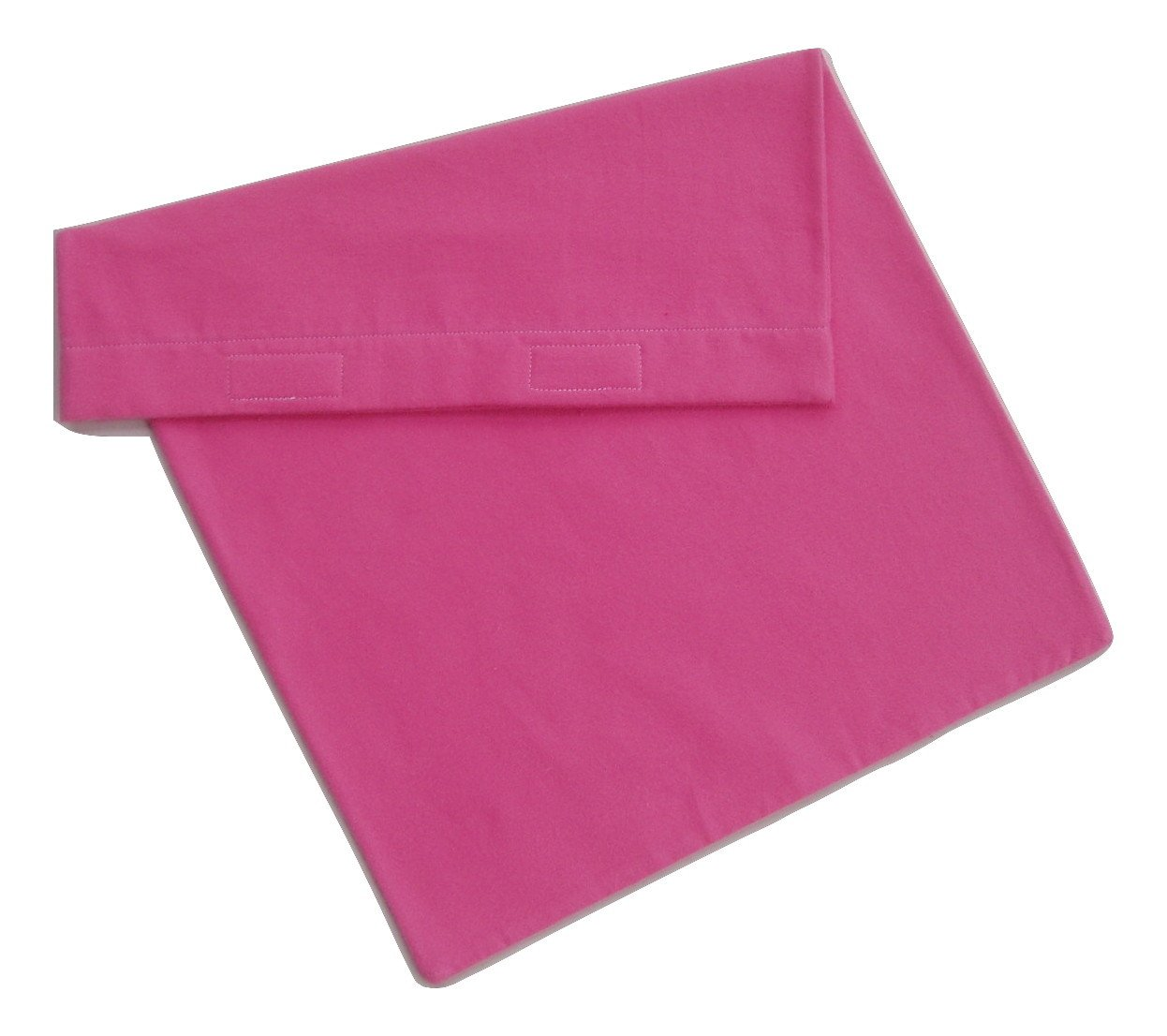 """Pink Replacement Cover (or pillowcase) for 12""""x24"""" Heating Pad or Pillow 100% Soft Cotton Flannel"""