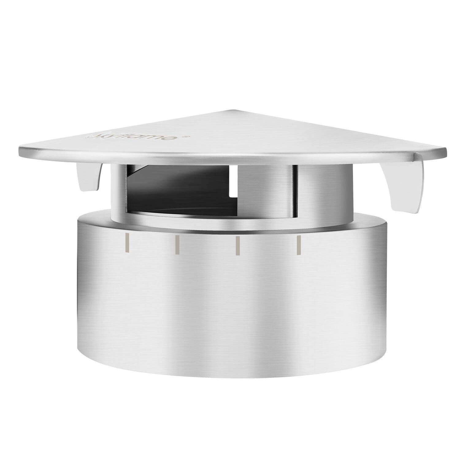Skyflame Stainless Steel Grill Chimney Top Vent Cap Replacement for Medium Large and XLarge Size Big Green Egg by Skyflame
