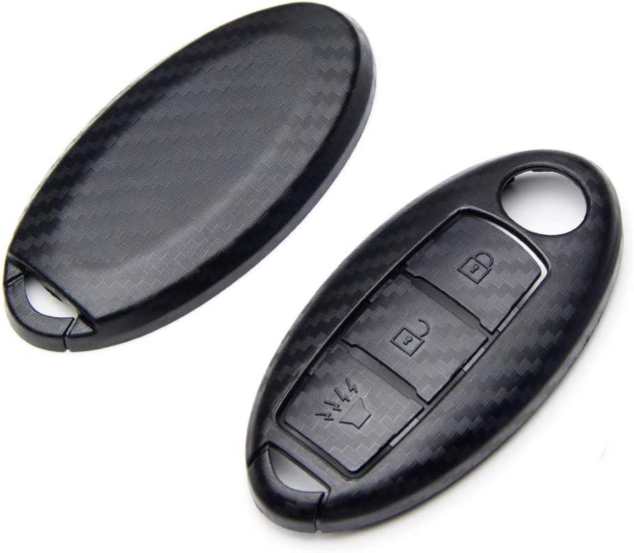 TANGSEN Smart Key Fob Case for Infiniti EX35 EX37 FX35 FX37 FX45 FX50 Q70 QX70 QX50 Nissan 370Z Armada Cube Juke Leaf Murano Pathfinder Quest Rogue Titan XD Versa Note 3 Button Keyless Entry Remote