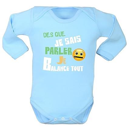 Sujetador bebé rigolote, manga larga, 100% algodón, niño Niña y niño,