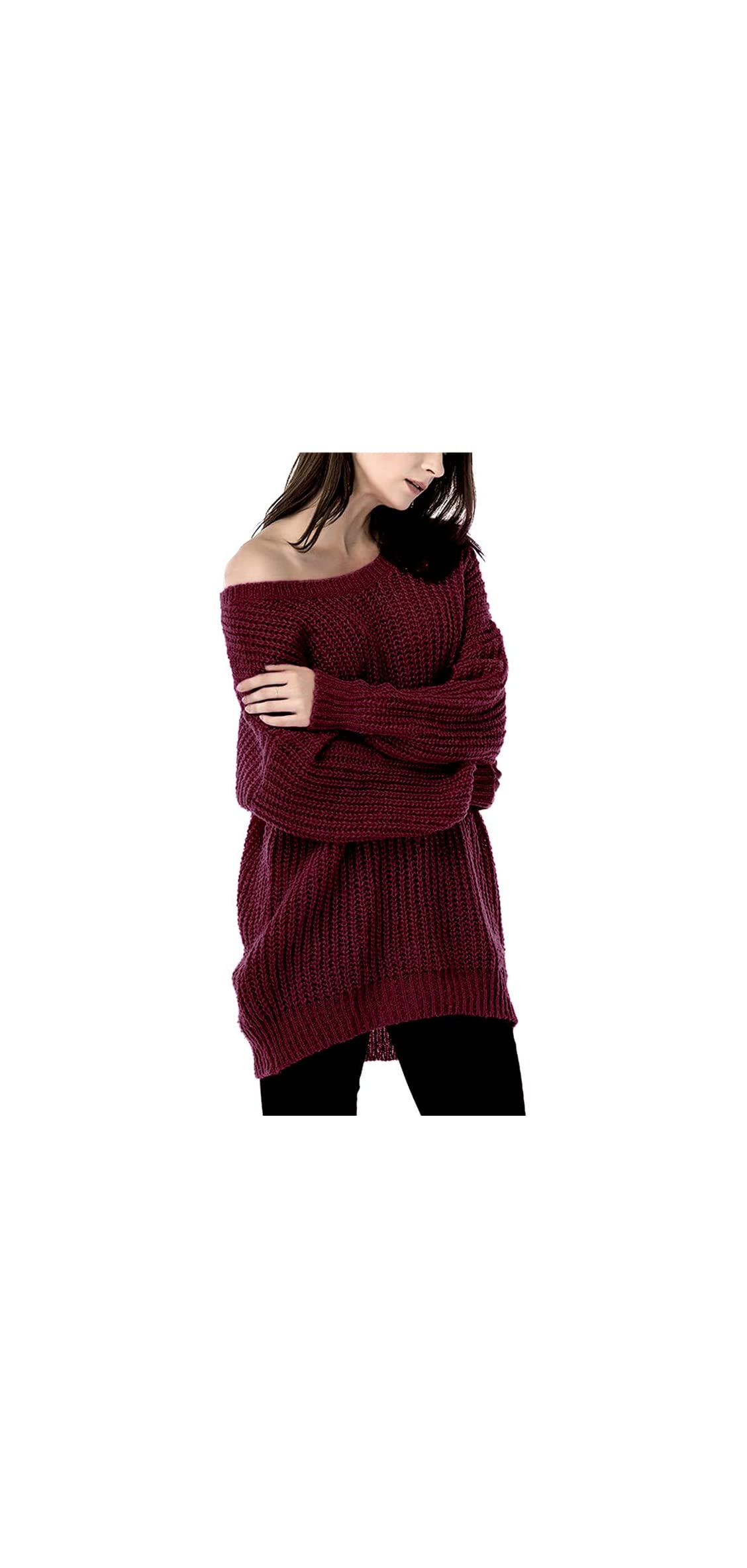 Women's Oversized Sweater Casual Loose Pullover Knit