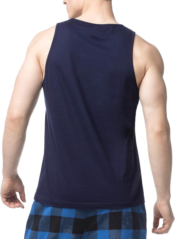 LAPASA 4 Pack Mens Pure Cotton Vests Bodybuilding Training Gym Basketball Tank Tops Basic Plain Color Casual Undershirt