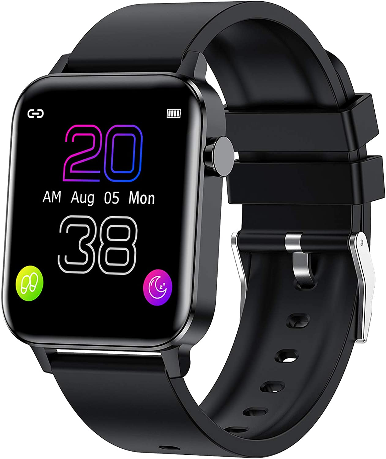 """Smart Watch, HAOQIN VS2 Activity Fitness Tracker with Heart Rate Monitor, IP68 Waterproof Pedometer, 1.4"""" Touch Screen Step Counter, Sleep Monitor, for Men Women, Compatible with iphone Android phones"""