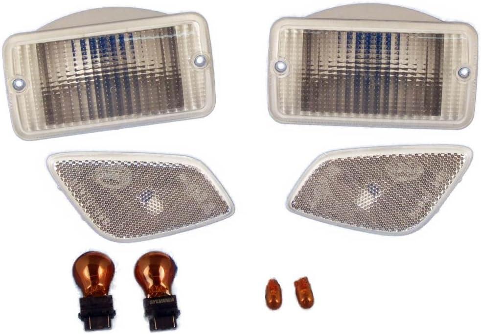 97-06 Jeep TJ Wrangler Clear Parking Sidemarker Lamp Kit TJ-CR-4 RT28015