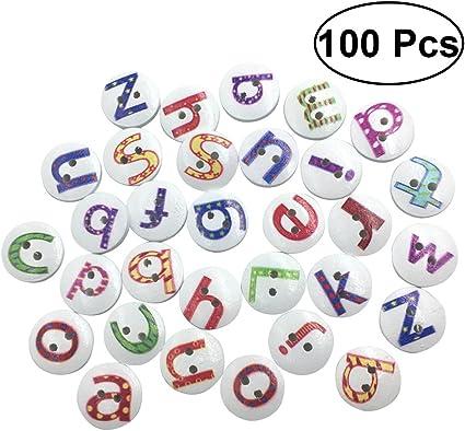 100 Assorted Color Wood Alphabet Letters Shape Embellishment Scrapbooking