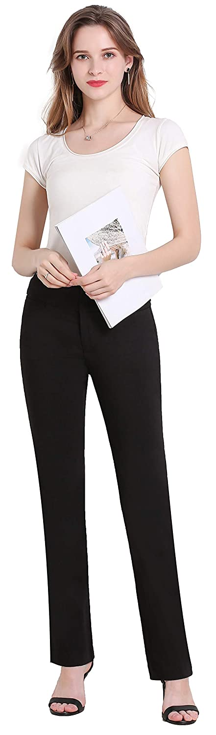 Comfy Stretch Bootcut Pants Wear to Work MOVING DEVICE Dress Pants for Women  Clothing Pants