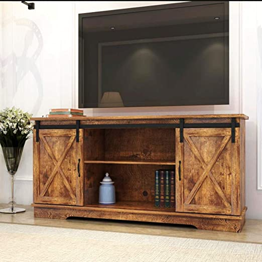 Rustic Oak 60 Flat Screen Recommended TV Size Ophilia Alvin TV Stand with 3 Drawers,Wooden Media Shelf for Living Room