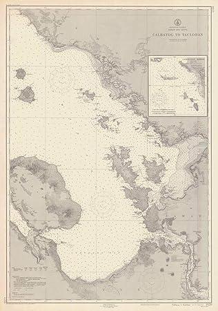 Amazoncom Vintography Reprinted 8 X 12 Nautical Map Of Calbayog To - Us-coast-and-geodetic-survey-maps