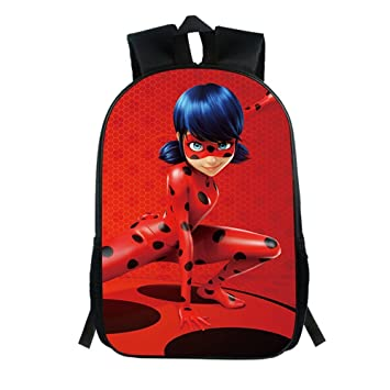 Haililais Niños School Bag Mochila Senderismo Miraculous Ladybug Mochila Casual Mochila de Colegio Viaje Unisex Mochilas Escolares: Amazon.es: Equipaje