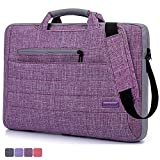 BRINCH(TM) Suit Fabric Multi-functional Neoprene Carrying Clipcase Shoulder Laptop/ Notebook Computer Bag Case for 15.6 Inch Macbook/Notebook,Purple