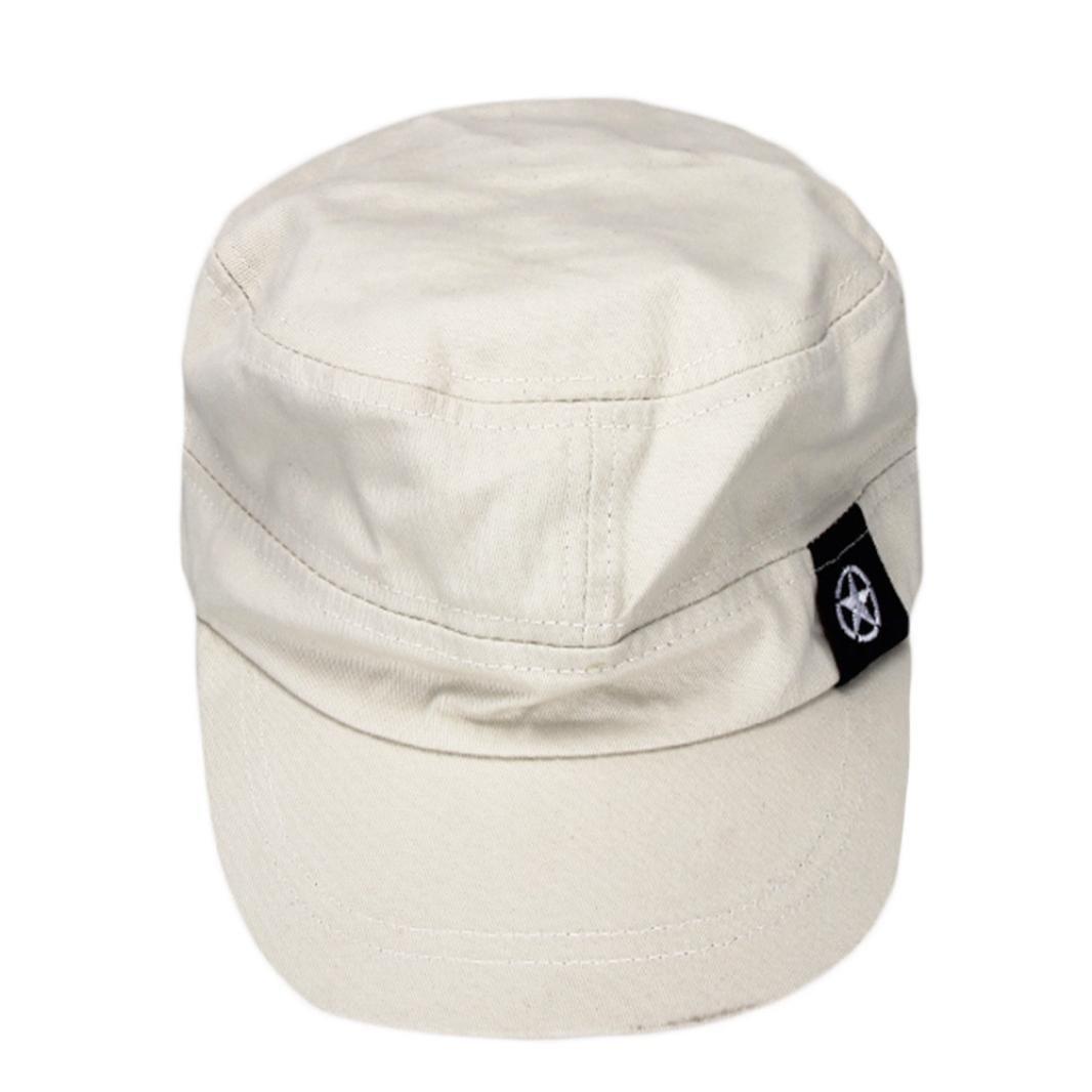 Unisex Cap,1 Pcs Solid Color Flat Roof Military Hat Simple Baseball Field Cap Casual Sun Cap Retro Cadet Patrol Bush Hat