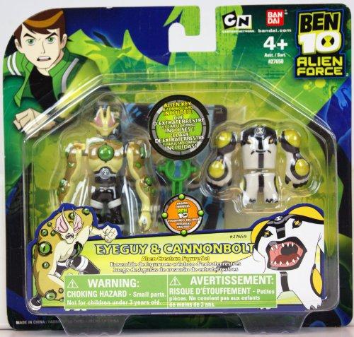Ben 10 Alien Force Eyeguy & Cannonbolt Alien Creation Figure Set