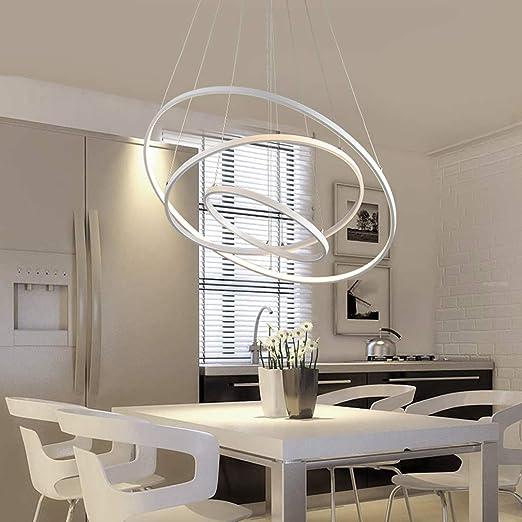 Mikia Lámpara de Techo LED Luces de círculo Creativas Modernas ...