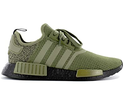 1b93a733a adidas - NMD R1 - AQ1246 - Color  Green-Olive - Size  8.0  Amazon.co ...