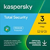 Kaspersky Total Security 2021 | 3 Devices | 1 Year | PC/Mac/Android | Online Code
