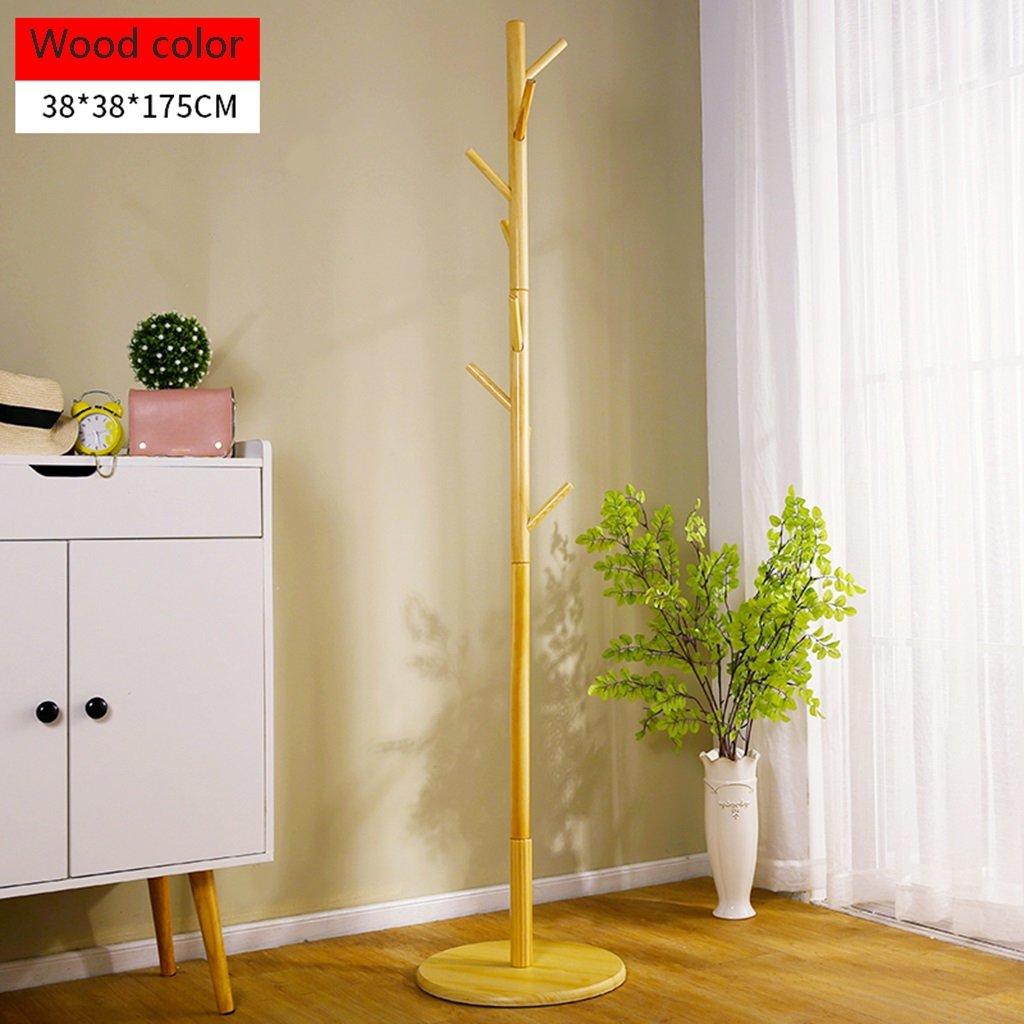 Amazon.com: Floor Standing Solid Wood Coat Rack Simple ...