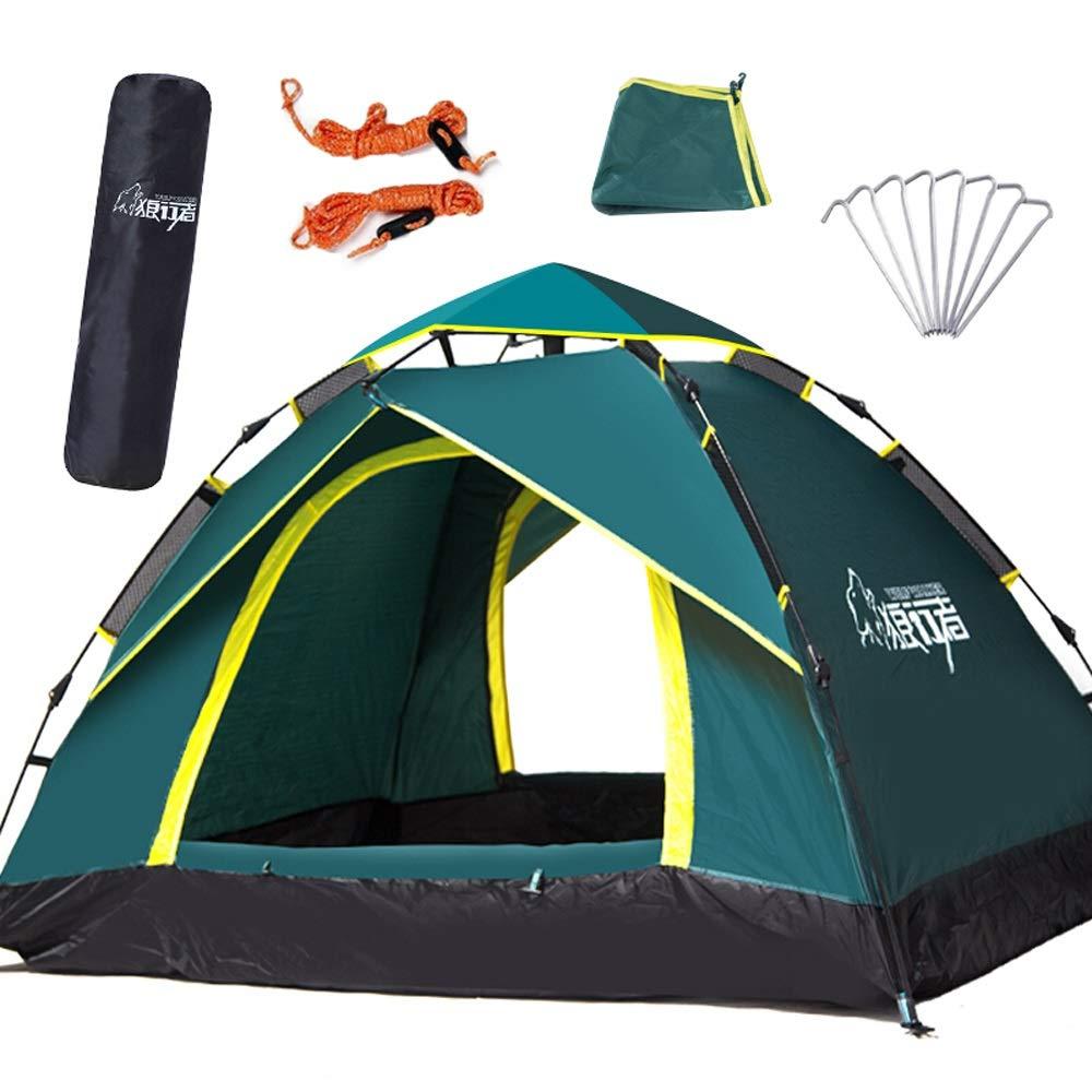 テント - 3-4人の屋外オートテント野外キャンプテントレジャーテント アウトドア製品  Green B019OL2SIC