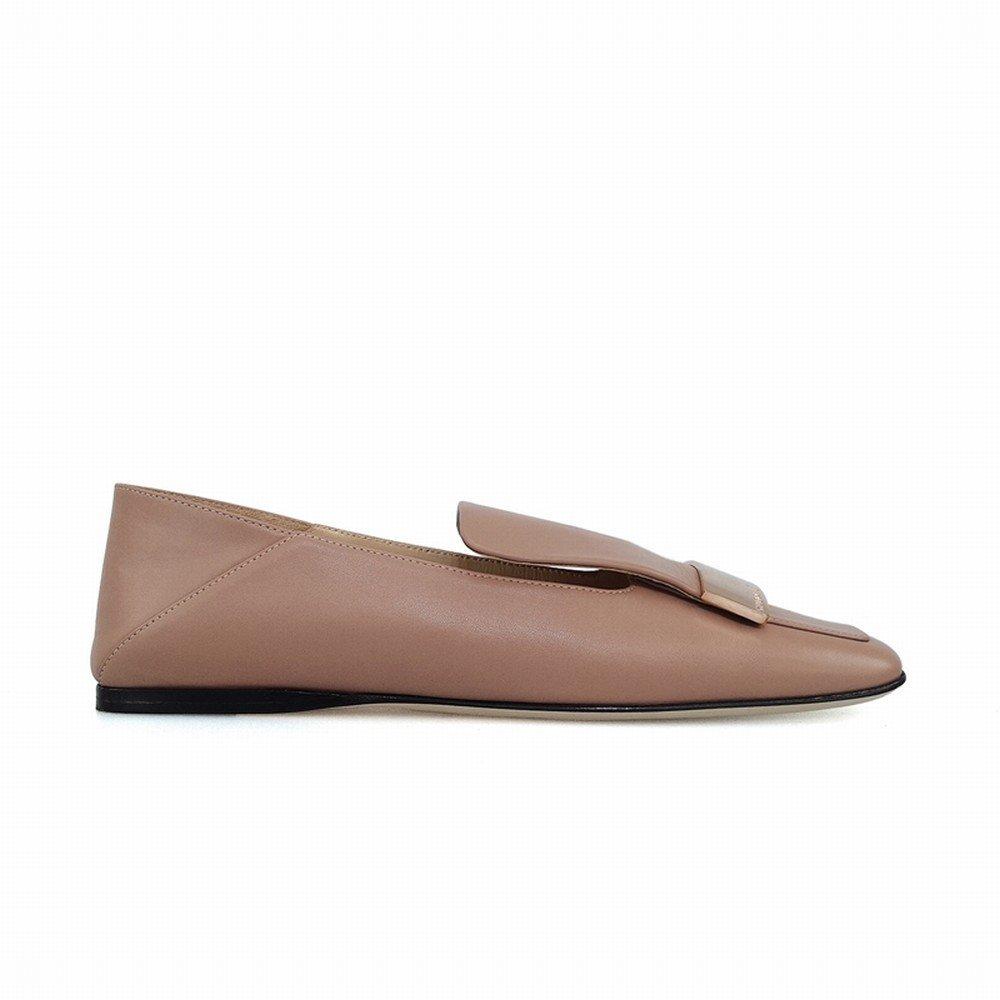 DHG Wirklich Flache Loafer Britische Loafer Flache Schuhe,Altrosa,36 - 3fde66