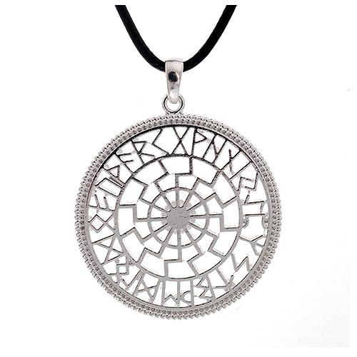 Simbolo De Calendario.Slavic Nero Sun Simbolo Con Calendario Runico Amuleto Antico