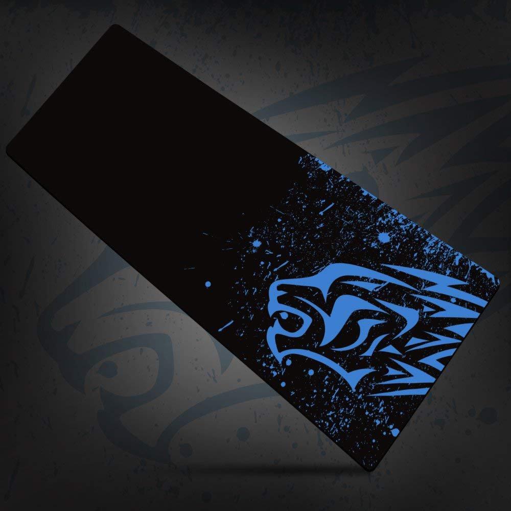 MUTANG Gruesa Alfombrilla de Ráton Gruesa MUTANG y Lisa Alfombrilla de Ráton Antideslizante Funcional de Goma Extra Grande y Resistente al Agua Leopardo Azul, Leopardo Rojo (Color : Azul) 45775b