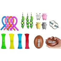 Sensory Fidget leksaks-set [18-pack] bunt sensoriska leksaker set - Mochi-leksaker/squeeze-a-Bean/Squeeze Ball…