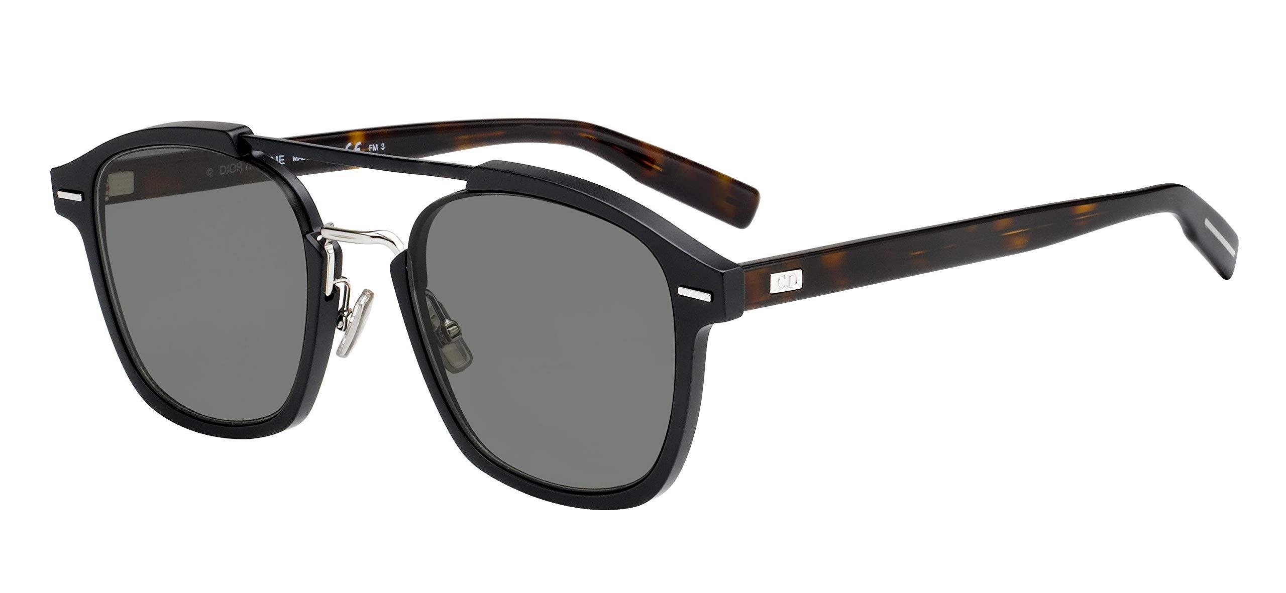 Dior Homme AL13.13 WR7 Black/Havana AL13.13 Square Sunglasses Lens Category 3