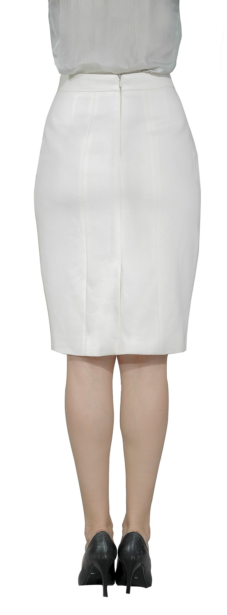 Marycrafts Women's Lined Pencil Skirt 4 Work Business Office 10 Beige by Marycrafts (Image #5)