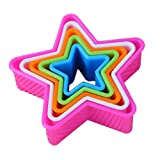 Sanwood 5Pcs Fondant Cake Cookie Sugarcraft Cutters Decorating Molds Kitchen - Ramdom Colour (Star)