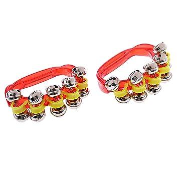 MonkeyJack - 2 pulseras de mancuernas para enseñar música, color rojo: Amazon.es: Instrumentos musicales