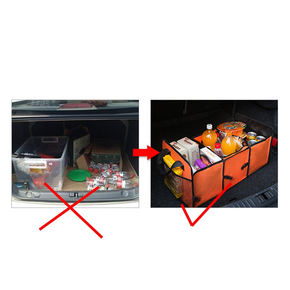YIOVVOM Trunk Organizer SUV und LKW Bestens geeignet f/ür die Aufbewahrung s/ämtlicher LKW-Vorr/äte beim Zusammenklappen zur einfachen Aufbewahrung Veranstalter f/ür PKW